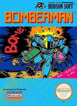 Bomberman NES inlay card - Hudson Soft