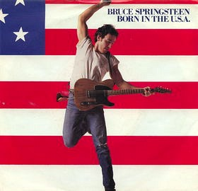 Born In The U.S.A. vinyl single sleeve
