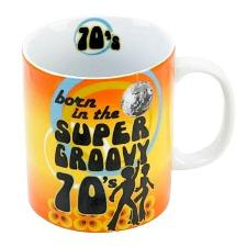 Born in the Super Groovy 70's Mug in a gift box