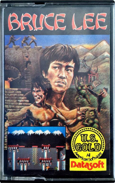 Bruce Lee computer game C64 casing - U.S. Gold - Datasoft