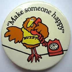 Buzby British Telecom 70s Pin Badge