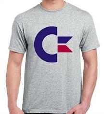 Retro C64 Commodore 64 T-shirt - grey or white