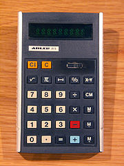 Adler 81 S calculator from the mid 1970s
