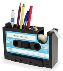 Cassette Desk Tidy with tape dispenser