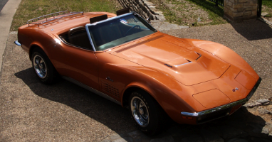 Orange Corvette Convertible 1971