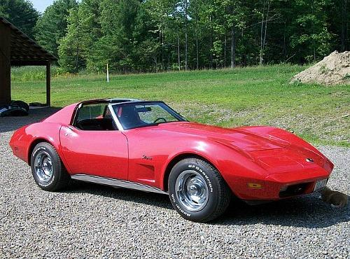 red '74 Corvetter stingray