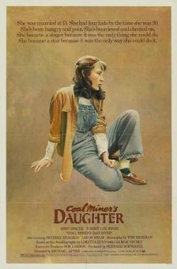 Colal MIner's Daughter (1980) movie poster - starring Sissy Spacek as Loretta Lynn