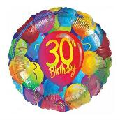Colourful 30th Birthday Party Balloon