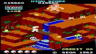 Screenshot of Sega Arcade version of Congo Bongo