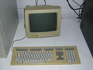 A 1980's DEC VT220 Video Terminal with LK201 Keyboard