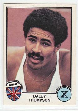 Daley Thompson - Panini sticker (1982)