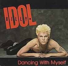 Billy Idol Dancing With Myself vinyl single sleeve