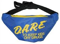 Official DARE Blue and Yellow 80s Fanny Pack