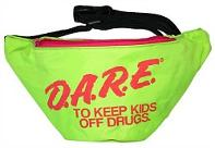 Official DARE Neon Green and Pink Fanny Pack