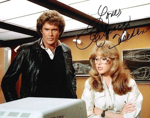 David Hasselhoff as Michael Knight with Rebecca Holden as April Curtis