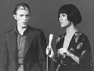 David Bowie with Cher in 1975