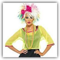 80s Pop Star Fancy Dress Costume for Ladies