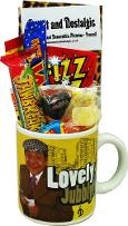 Lovely Jubbly Del Boy Mug with 80s Sweets