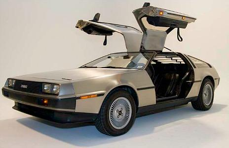 DeLorean DMC-12 with open gull-wing doors