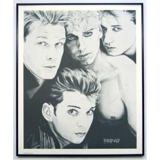 Depeche Mode charcoal printed frame gift