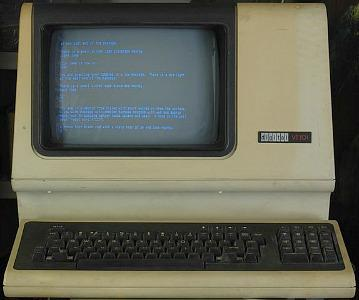 DEC VT101 ASCII terminal (late 1970s) by Digital Equipment Corporation