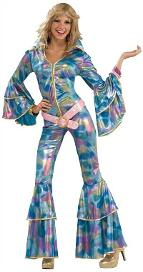 Pschedelic Disco Jumpsuit Costume for Women