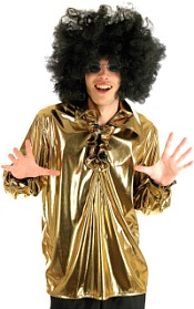 Men's Shiny Gold Disco Shirt