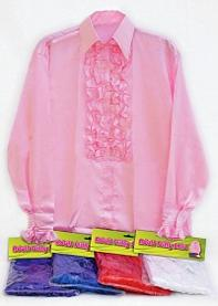 Men's Frilly Satin Disco Shirt