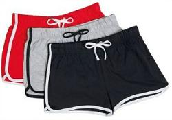 Women's Retro Gym Shorts (Dolphin Shorts) with drawstring