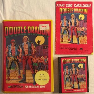 Double Dragon Atari 2600 game cartridge with manual