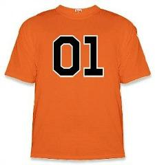 Dukes of Hazzard General Lee 01 Orange T-shirt
