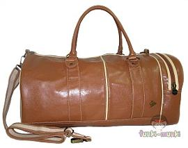 Dunlop Brown Leather Look Gym Bag