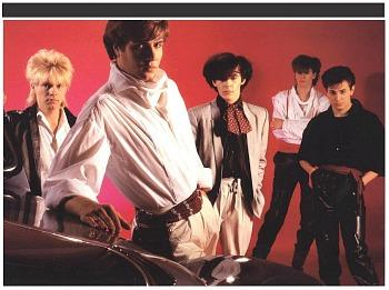 Duran Duran on the cover of their self-titled debut album