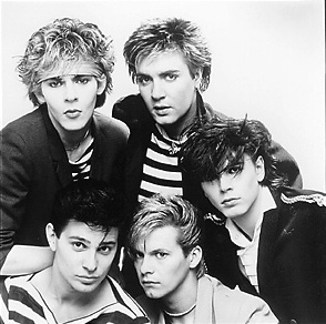 Duran Duran in 1981 - black and white photo