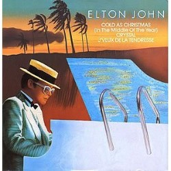 Elton John - Cold As Christmas Vinyl Sleeve