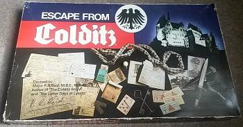 Escape From Colditz - 1970s card and dice board game by Gibsons