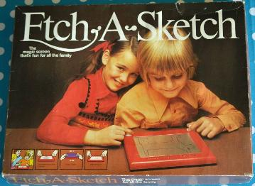 1970s Etch-A-Sketch boxed