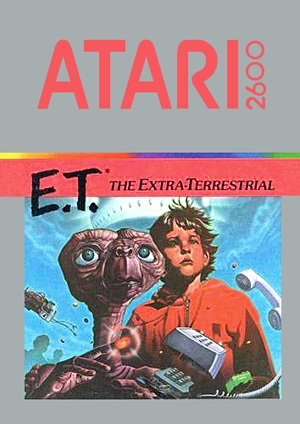 E.T. The Extra Terrestrial Atari 2600 front sleeve artwork