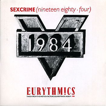 Eurythmics - Sex Crime 1984 - vinyl single sleeve