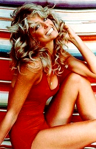 Farah Fawcett red swimsuit Poster from the 1970's