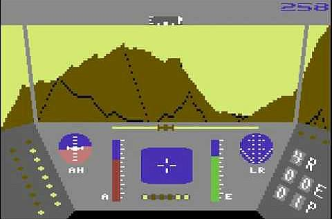 Rescue On Fractalus C64 screenshot