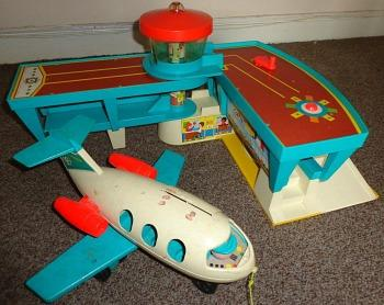 1970s Fisher Price Folding Airport Toy