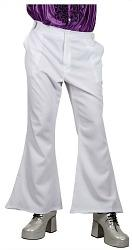 White Flared Disco Trousers for Men