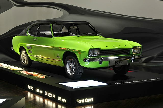 1972 Ford Capri Mk1 lime green