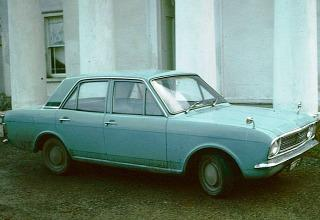 Ford Cortina MkII photographed in 1974