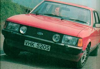 Red Ford Granada MkII British