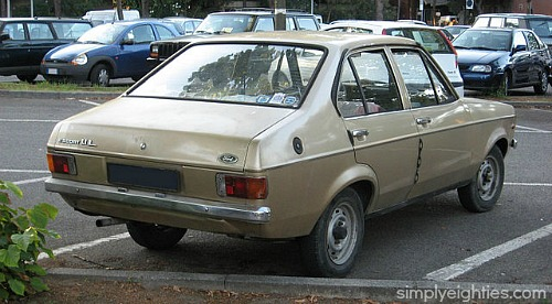 Ford Escort 1.1l rear view