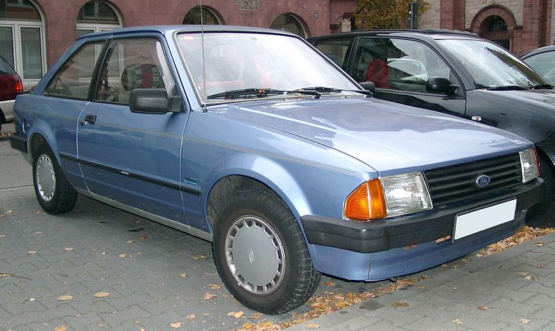 Ford Escort Mk4 - 3 door in blue