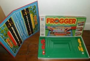 Frogger board game by MB Games