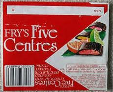 Fry's Five Centres Chocolate Bar